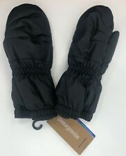 New PATAGONIA Black Baby Puff Waterproof Mitts Mittens 3-6 Months $39 Retail