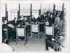 1935 Rocking Chair Courtroom Davidson Death Inquiry Pinehurst NC Press Photo