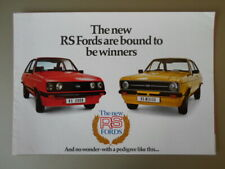 FORD ESCORT RS MEXICO & RS2000 orig 1976 UK Mkt Sales Brochure - RS 2000