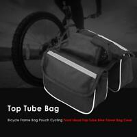 Cycling Bicycle Bike Top Frame Front Pannier Saddle Tube Bag Double Pouch Pack