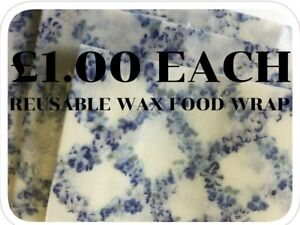 5 Bees Wax Food Wraps - 100% Natural - Reusable - Plastic Free ***£1.00 EACH***