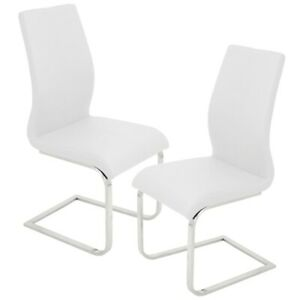 LumiSource Foster Dining Chair (Set of 2), White - DC-FSTRW2