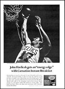 1969 John Havlicek Boston Celtics Carnation Instant Breakfast photo Print Ad
