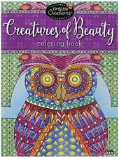 Adult Coloring Book For Women Girls Creatures of Beauty Stress Free Relaxation