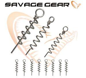 Savage Gear Cork Screws for Soft Bait Lure 8Pcs Corkscrew All Sizes Pike Fishing