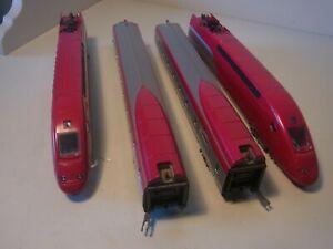 Spur H0 Mehano T675 (DC) Hochgeschwindigkeitszug Thalys 4-teilig Analog (5356D)