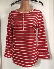 NEW~Jones New York Sport Red & White Shirt~Women's Size Large