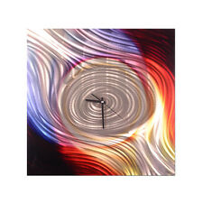Metal Wall Clock Color Spiral II Abstract Modern Art Decor Ash Carl