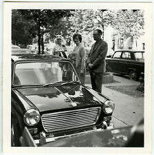 PHOTO ANCIENNE - VOITURE PARKING ATTENTE 1960 - CAR WAITING - Vintage Snapshot