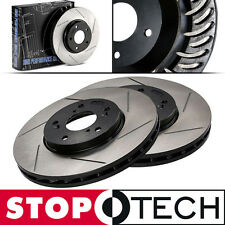 StopTech SLOTTED Brake Rotors - FRONT Right Left (06-11 Honda Civic) 126.40056S