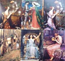 """Pre-Raphaelite 6 artist prints J. W. Waterhouse 7"""" x 5"""" Myth legend Psyche Nymph"""