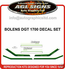 BOLENS DGT 1700 TRACTOR DECAL SET, reprocduction
