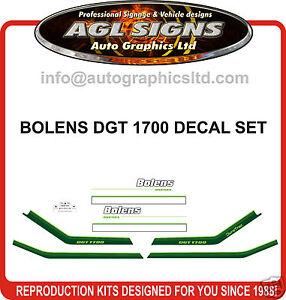 BOLENS DGT 1700 TRACTOR DECAL SET, reprocduction