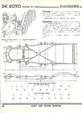 1940 DeSoto Model S7 NOS Frame Dimensions Align Specs