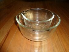 Two Vintage Fire King Sunbeam Glass Mixing Bowls Small & Large - Made in USA