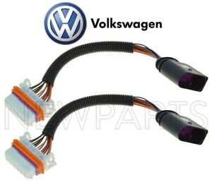 For VW Touareg HID Only 04-07 Set of 2 Headlight Adapter Wiring Harnesses