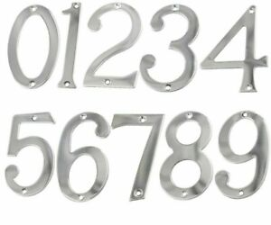 Stainless Steel 75mm Height Digitals House Number Optional Screw Mounted Numbers