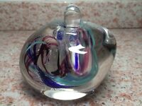 HAND BLOWN SIGNED ART GLASS PERFUME BOTTLE