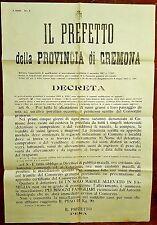 G16-I° G.M. , CREMONA, DECRETO SULL' ALLEVAMENTO DEI SUINI, 1917