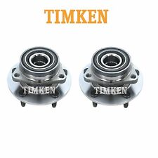 For Dodge Ram 1500 4WD Pair Set of 2 Front Wheel Bearings & Hub Assy Timken