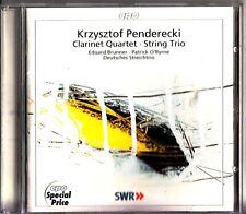 Kryzstof Penderecki: Clarinet Quartet ; String Trio CD -Eduard Brunner (O'Byrne)