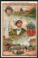 French Provinces Maine History Culture Dress 1897 Trade Ad Card