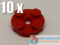⭐️10 x BRAND NEW LEGO 4032 ROUND 2 x 2 WITH AXLE HOLE - RED - 403221⭐️