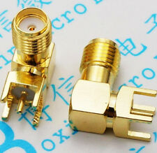 10PCS SMA female Thru Hole plug Right Angle 90 DEGREE  SMA-KWE  PCB Mount +cat
