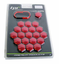 Seat Leon 1P 17mm Red TPI Hex Alloy Wheel Nut Bolt Covers