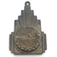 Vintage Sterling Silver Motor Boating Award Pendant 9g 1.5in L175