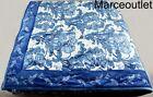 Martha+Stewart+Collection+Nouveau+Floral+Velvet+KING+Quilt+Blue