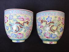 2 tasses chine porcelaine fine dragons chinese fine ceramic cup mark