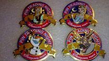 Disney Dlp Pin Trading Night - Frozen Anna Elsa Sven & Olaf all four Le 400 Wow