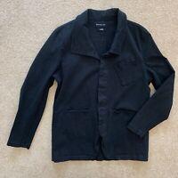 KC By Kill City Men Black Stretch Fitted Rocker Jacket Blazer Unlined Sz XL 44R