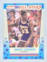 1989-90 FLEER MAGIC JOHNSON ALL-STAR STICKER # 5 LOS ANGELES LAKERS