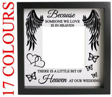 Because Someone we Love is in Heaven Wedding Decal Sticker Box Frame Craft Wall