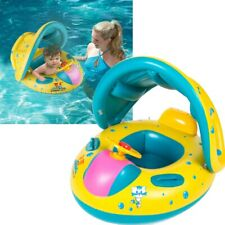 Sunshade Baby Kid Float Safety Seat Boat Swimming Pool Swim Ring Wheel Water Toy