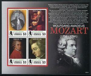 Dominica 2006 Mozart Musik Komponist Gemälde Music Composer Art 3753-3756 MNH