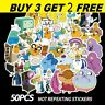 50pc Sticker Adventure Time Car Laptop Helmet Luggage Skateboard Collection Gift