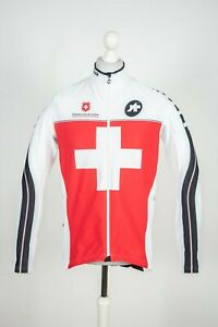 Mens Assos Cycling White Racing Campionissimo Jersey Longsleeve Jacket Size XL