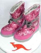 Kangaroos Sympa Girls Fur-Lined Short-Shaft Snowboots, Uk 11.5 Free P&P