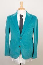 Boglioli 'Bower' Turquoise Blue Corduroy Cotton 2 Button Sport Coat 48 IT 38 US