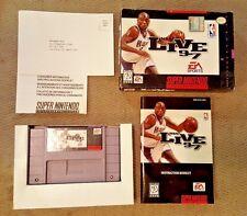 NBA Live 97 - Super Nintendo (SNES) - Complete in Box (CIB) - Cart Near-Mint