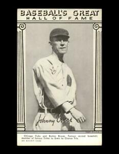 1948 Exhibits Hall of Fame Set Break Johnny Evers VG-VGEX (crease) *GMCARDS*