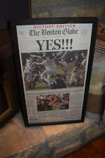VINTAGE 2004 BOSTON RED SOX FRAMED COMPLETE NEWSPAPER WORLD SERIES CHAMPIONS
