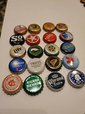 Mostly All Craft, Beer Bottle Caps Undented Clean No Dents Used Lot of 20