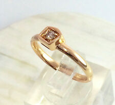 GENUINE VS DIAMOND RING 18CT ROSE GOLD EARTHY DESIGN BY MIMI VALUATION $2,270
