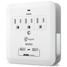Electrical 3 Outlets Socket with 3/4 USB Ports Surge Protector Wall Tap Adapter