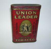 Antique Union Leader Smoking Tobacco Tin Box