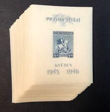 Czechoslovakia #B158 20 Sheets of 1 1946 MNH